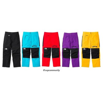 【美國鞋校】現貨 Supreme SS19 TNF Arc Logo Mountain Pant 長褲 黑色M