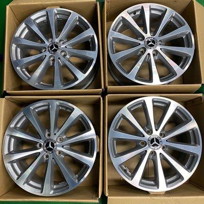 賓士 w213 原廠17吋 鋁圈 適用於w210 w211 w203 w204 w205 W212 w220 w176 Benz 7.5J ET40 5x112