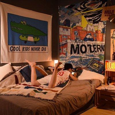 丸子雜貨鋪 試衣間COOL KIDS個性卡通背景布ins掛布兒童房間布置墻面裝飾出租房改造韓版韓風掛畫