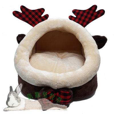 【趴趴兔牧草】聖誕麋鹿款 寵物保暖窩 寵物窩 兔 天竺鼠 小型寵物