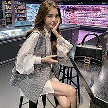 TOKYO DEPT【F8538】韓氣質襯衫+背心兩件套.襯衫上衣 馬甲背心 寬鬆顯瘦 學生族 上班族 兩件套