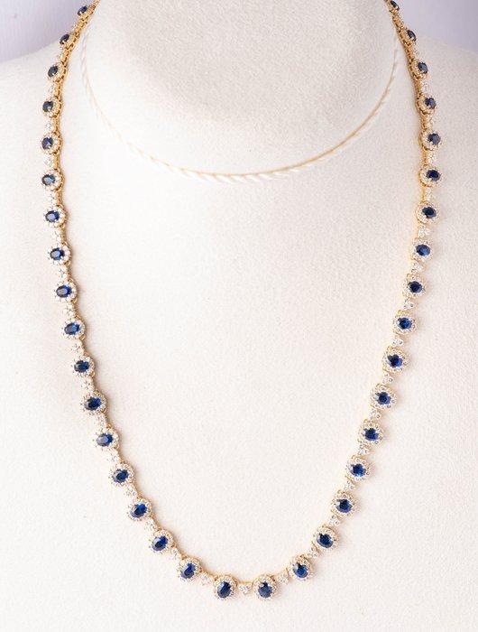 【JHT金宏總珠寶/GIA鑽石專賣】12克拉藍寶鑽石套鍊/材質:18K(JB53-B01)_附證