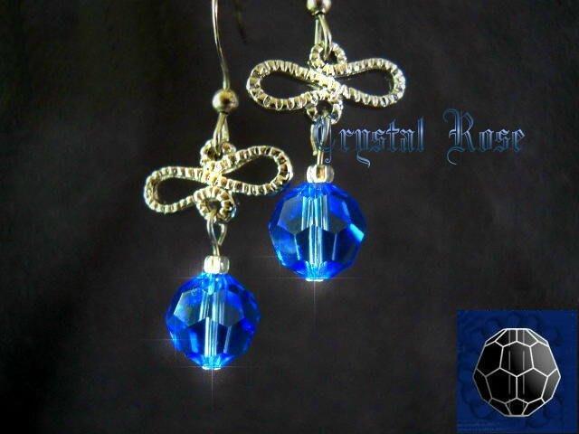 ※水晶玫瑰※ SWAROVSKI 8mm水晶珠 耳勾式針式耳環(DD334)~出清~三對免郵