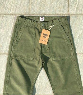 牛仔之星全新美國製Tellason Fatigue Olive OG-107軍褲made in usa