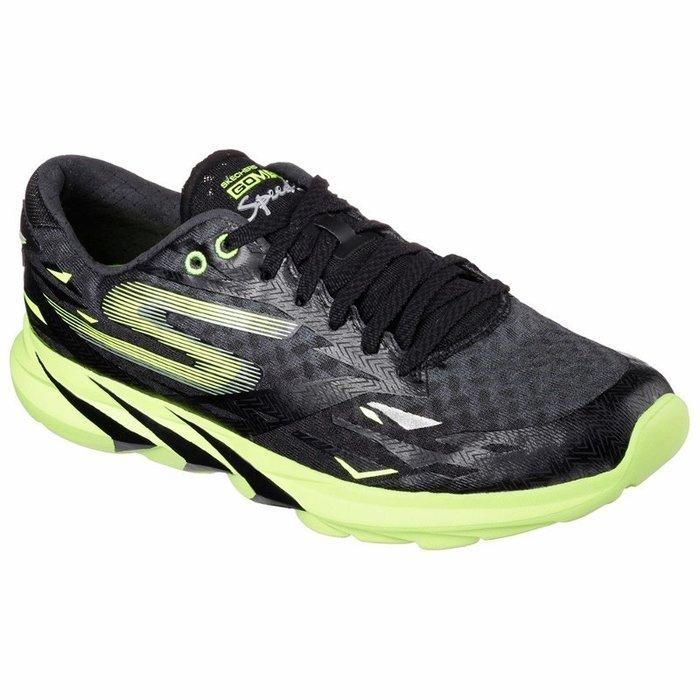 零碼 (SKECHERS) GOMEB SPEED3慢跑鞋 -54000BKGR 黑綠 11.5號 (原價:3890元)