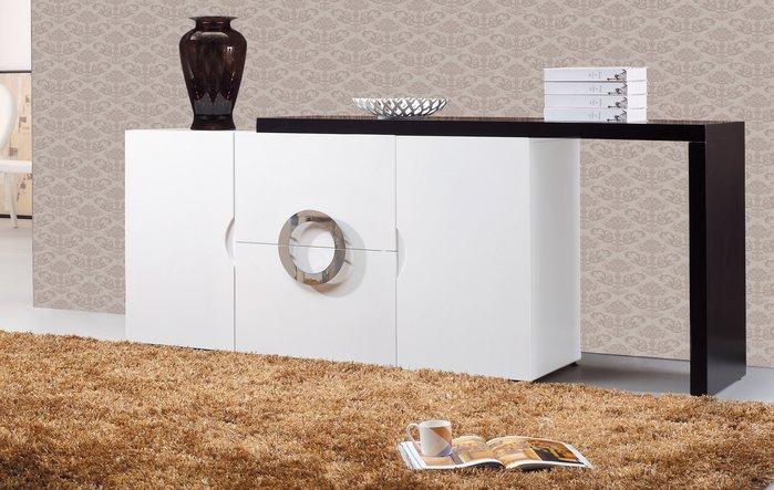 FA-410-1 【歐瑞家具】 帕克5尺白色伸縮收納櫃/造型/高品質/限新竹以北區/超低價/系統家具/高品質/1元起
