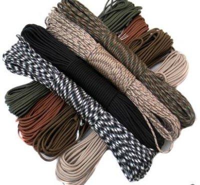 7芯軍規傘繩戶外繩子傘兵繩戰狼編織手鏈安全繩登山求生裝備