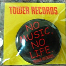 [狗肉貓]_NO MUSIC NO LIFE_TOWER RECORDS_別針三個色調不同_