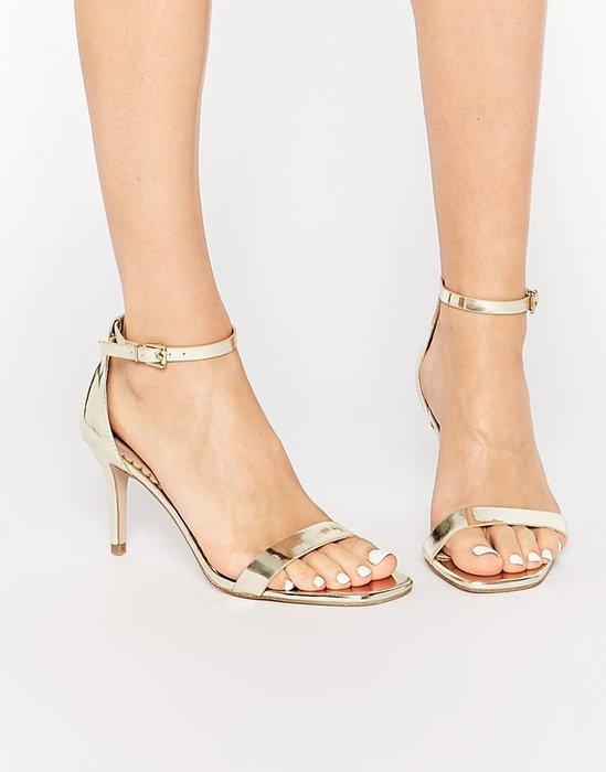 ◎美國代買◎ASOS細版皮帶鞋面與繞腳踝設計經典百搭款露趾高跟涼鞋~晚宴PARTY款~大尺碼