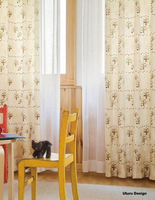 【Uluru】日本窗簾布藝.日式簡約 樹木 森林 松鼠 訂製窗簾 捲簾 羅馬簾 蛇型簾 美式鄉村