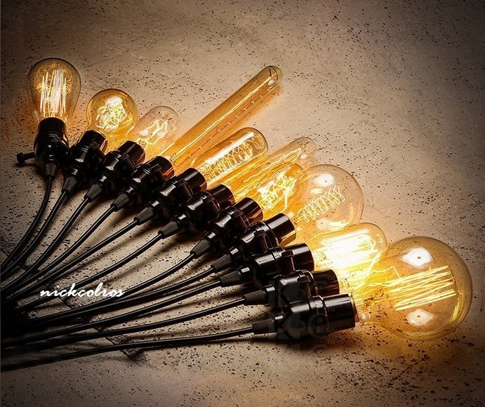 尼克卡樂斯~復古愛迪生 燈泡 吊燈 E27 110V  單頭吊燈 鎢絲燈泡吊燈