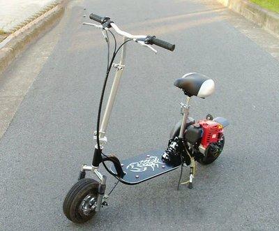 【迷你GP小機車】玩具休閒型 X5  49cc 2行程引擎  汽油滑板車 黑色 買菜 釣魚好幫手