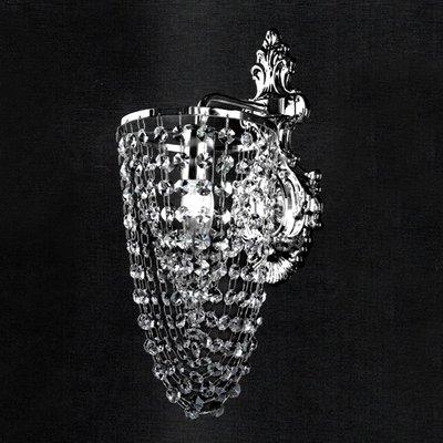 埃及奧地利金屬鍍鉻水晶壁燈E14-1燈TA95334