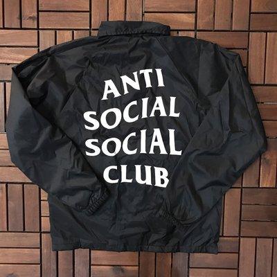 ☆LimeLight☆ Anti Social Social Club Coach Jacket 教練夾克 黑色