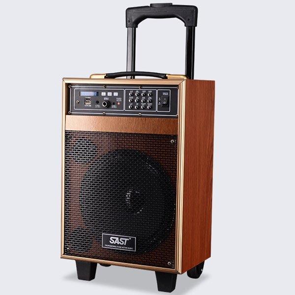 5Cgo【批發】含稅會員有優惠 45737832508 廣場舞音響8寸戶外手提拉杆大功率音箱木質電瓶音箱移動音響充電式