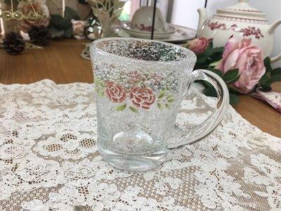 鄉村童話 Many 史黛西 玫瑰 玻璃 馬克杯 水杯 氣泡感 手工