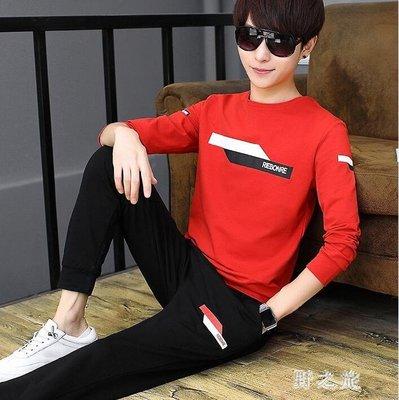 中大尺碼運動套裝男  青少年秋季長袖T恤學生休閒時尚百搭潮流兩件套 KB11498