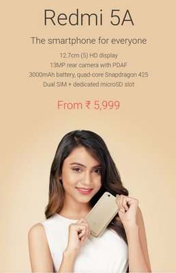 Brand new Golden85 Xiaomi Redmi 5A global version one year Warranty