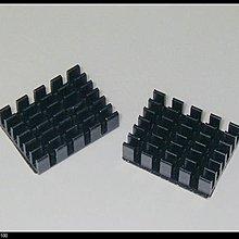 【大台北液晶維修】電源模組配套高品質散熱片 19*14*6 黑色 開槽(帶固定膠貼)