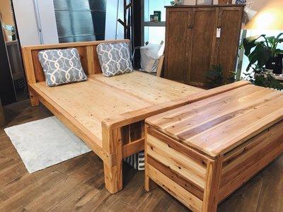 復古實木松木雙人架 床頭片 床頭櫃 木匠之家Carpenters House