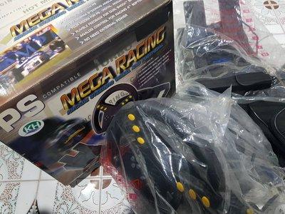 SONY PS 賽車方向盤與油門踏板 MEGA RACING Arcade steering wheel and foo