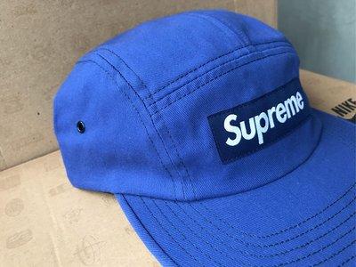 Supreme Reactive Camp Cap 熱感 感熱 變色 五分割 帽 藍 Royal 2018