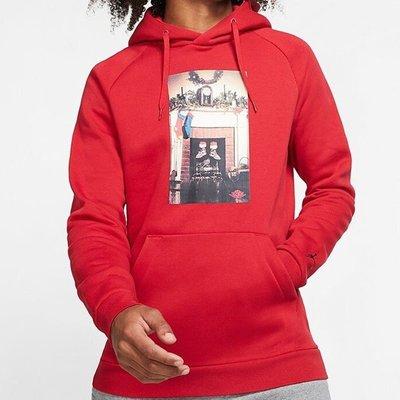 """【吉米.tw】JORDAN JUMPMAN """"CHIMNEY"""" 喬丹芝加哥聖誕節紅色帽T CT4886-687 NOV"""