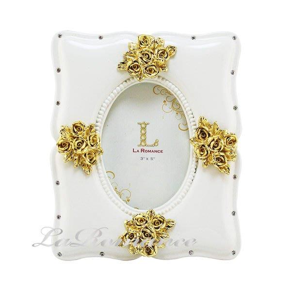 【芮洛蔓 La Romance】流金玫瑰純白單張-相框