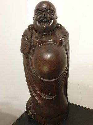 福報彌勒佛 財神 黑壇木