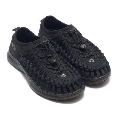 =CodE= KEEN UNEEK O2 SANDALS 編織彈性綁繩包後跟涼鞋(全黑) 1018723 戶外 拖鞋 女