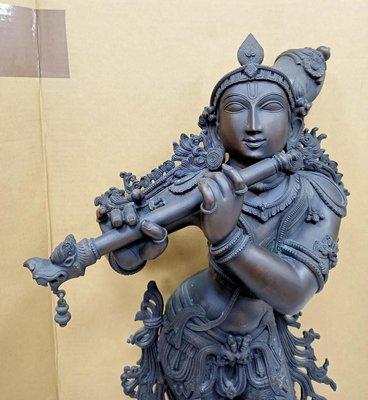 桃園國際二手貨中心------印度銅雕...