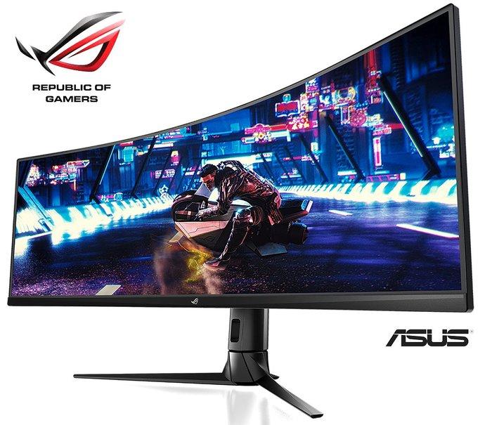 全新 ASUS華碩 ROG Strix XG49VQ 49吋 VA 曲面 HDR 電競 螢幕 144Hz HDR【公司貨