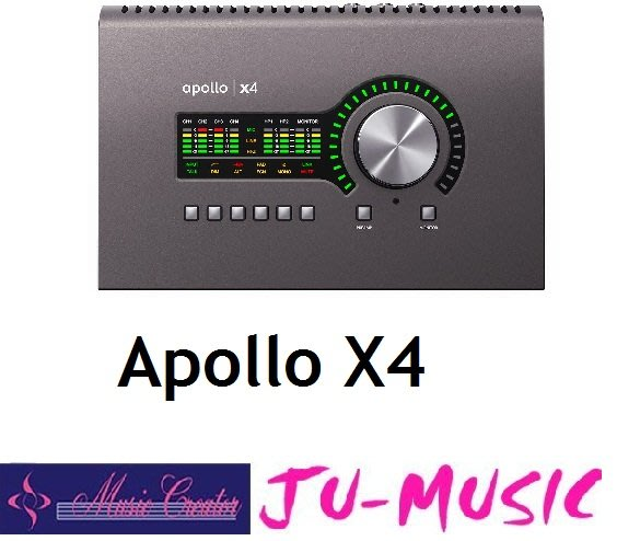 造韻樂器音響- JU-MUSIC - Universal Audio Apollo X4 Thunderbolt 錄音