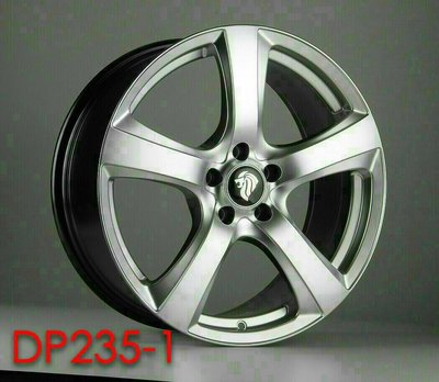 D18111615 富山鋁圈 DP235-1 高亮銀 優惠特價中