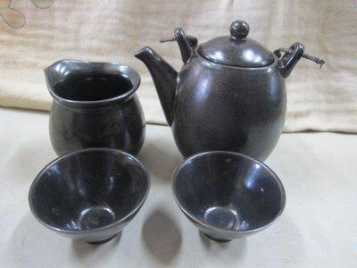 二手舖 NO.121 陶器 茶具組 茶壺 茶海 茶杯