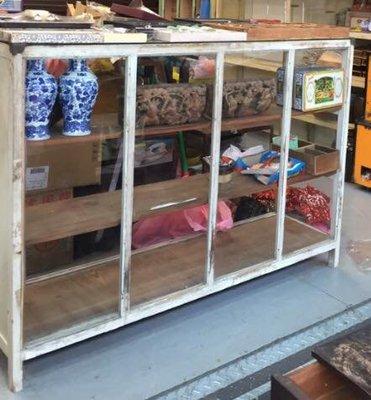 早期年代柑仔店櫥檜木櫃展示櫃