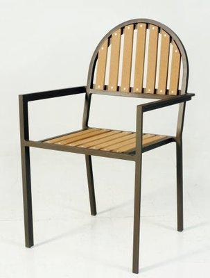 塑木圓背椅 -大台中地區免運費