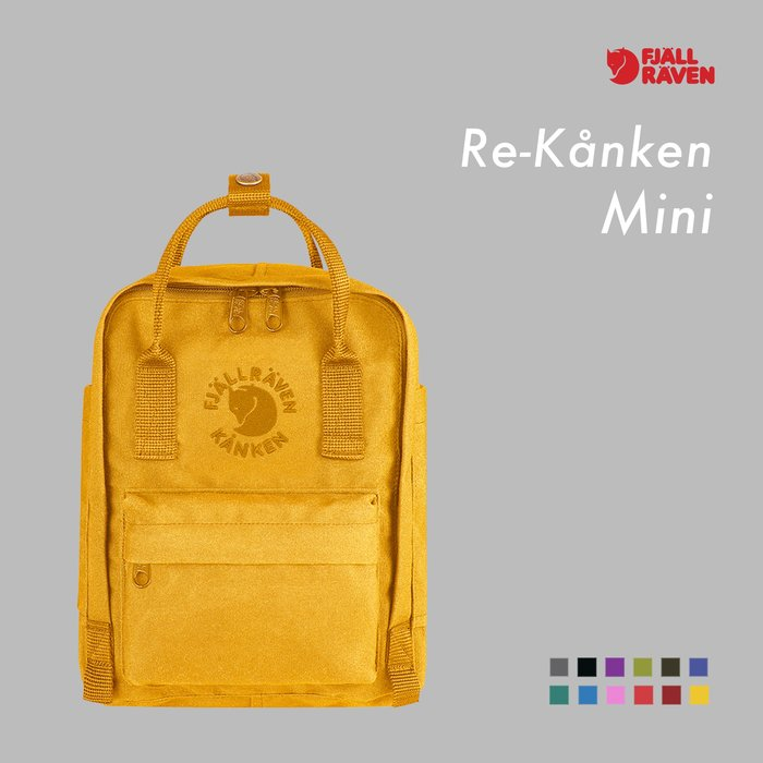WaShiDa【KN23549】FJALLRAVEN × Kanken RE-KANKEN Mini 刺繡 後背包