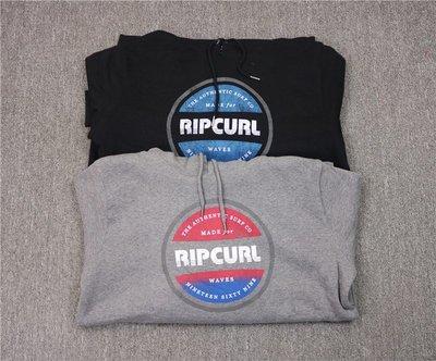 Cover Taiwan 官方直營 Rip Curl 衝浪 滑板 極限運動 帽Tee 帽T 嘻哈 黑色 灰色 (預購)