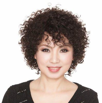 水媚兒假髮ZMF033HH♥新款女士真髮 時尚蓬鬆 短捲髮♥ 預購 團購批發