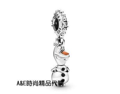 A&E精品代購Pandora 潘朵拉 迪士尼琺瑯雪寶吊墜 925純銀 Charms 美國代購
