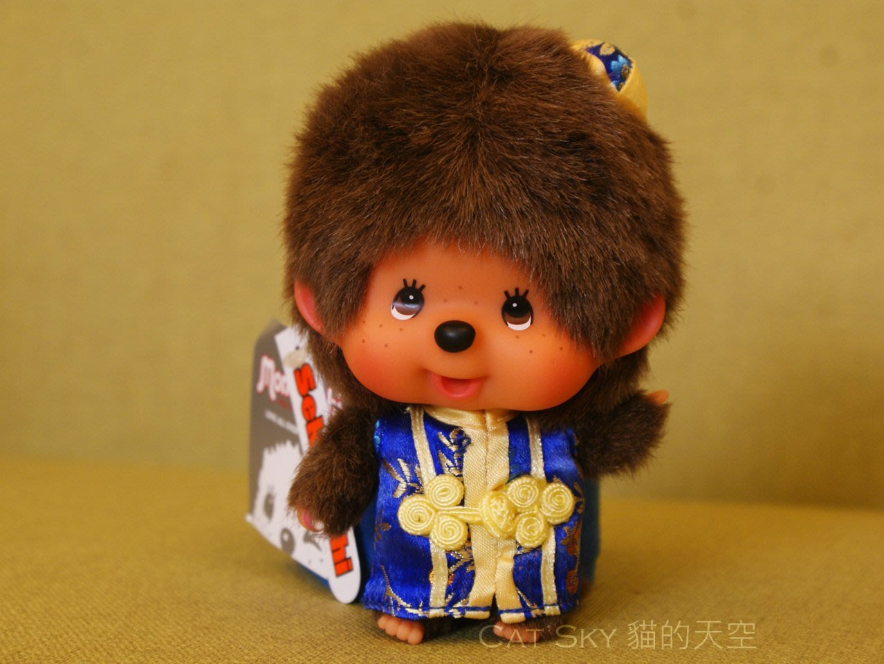 《Cat Sky》日本Monchhichi唐裝小帽.大頭夢奇奇鑰匙圈.超特價