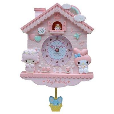 ZIHOPE 客廳掛鐘 兒童臥室可愛卡通創意掛鐘房形搖擺鐘錶石英鐘掛錶墻鐘公主房子鐘ZI812