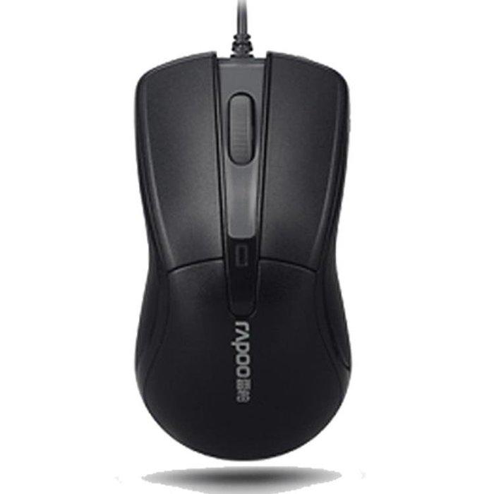 滑鼠Rapoo/雷柏N1162有線滑鼠電腦筆記本USB滑鼠辦公游戲家用滑鼠