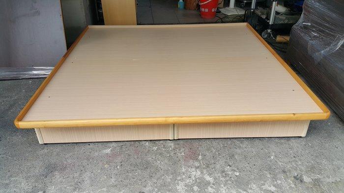 樂居二手家具 B111805 白橡色雙人六尺掀床 床架 床箱 加大掀床 臥室家具 床墊 衣櫃 床頭櫃【全新中古傢俱家電】