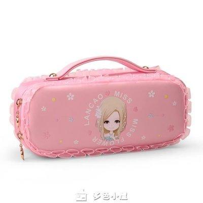 ZIHOPE 筆袋女韓國簡約大容量公主文具盒小學生文具袋女生鉛筆盒ZI812
