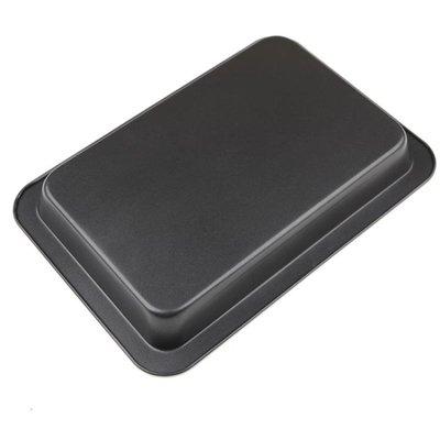 【居家必備 生活小助手】入門家用模具長帝烤箱烤盤家用長方形TRTF32升烘焙工具 37.5cm蛋糕模具不沾深可可里百貨
