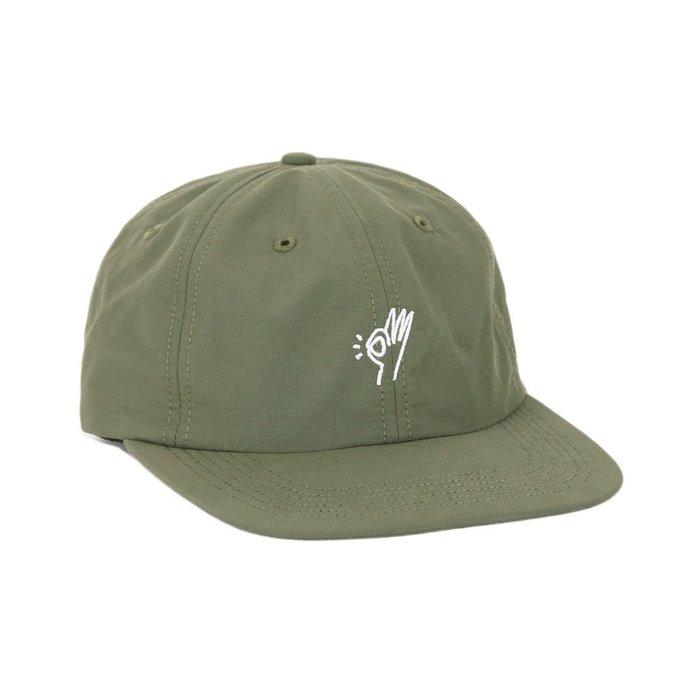 { POISON } ONLY NY OK POLO HAT 刺繡OK手勢 日本棉混面料老帽棒球帽 美國製 軍綠