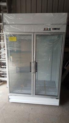 (立吉) 營業用 冷藏式玻璃雙門冰箱 標準型4尺  220V / 110V