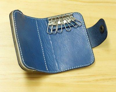 銀革手作 意大利 植鞣革 頭層牛皮 3用 卡套 散紙包 鎖匙包 皮革教學 皮革課程